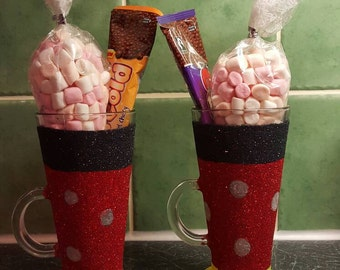 Glitter hot chocolate set