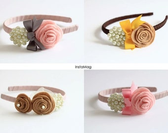 Rose & Pearl Headbands