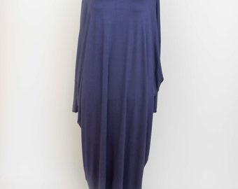 Abaya casual dress butterfly sleeves  evening dress casual maxi long sleeve loose  , blueish grey