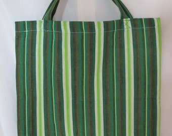 Bag with green stripe