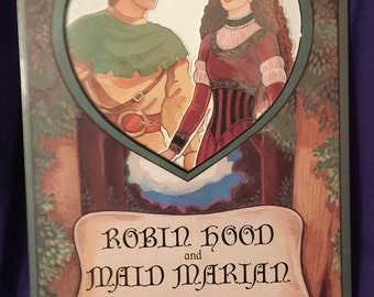 Robin Hood and Maid Marian paper dolls, by Peck-Gandre 1992, Mint