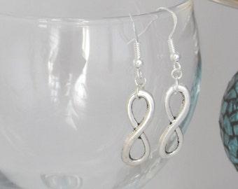 Silver Infinity Earrings - Friendship Earrings - Infinity Earrings