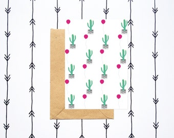 Cactus and balloon