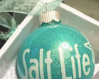Salt Life Glass Ornament