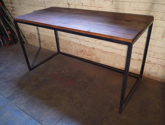 Reclaimed wood desk industrial office desk reclaimed wood - Reclaimed wood office desk ...