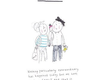 SIMPLE - print from the popular 'Sketchy Muma' series written and illustrated by Anna Lewis.