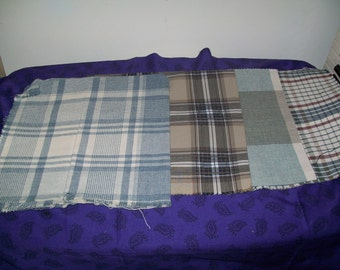 Plaid Upholstery Fabric Samples