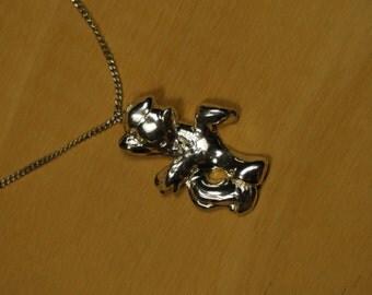 pony pendant silver