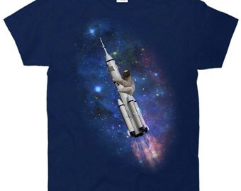 Sloth Going To Space (Rocket ship) T-Shirt