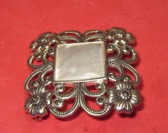 Amazing Antique Vintage  Brooch 925 silver