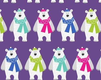 Bundle up Polar Bear Fleece Blanket - Christmas Fleece Blanket- Winter Fleece Blanket - Polar Bear Fleece