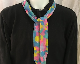 Geometric Design Scarf in Pastel
