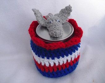 Donkey Head Candy Jar, Candy Jar, Democrat Candy Jar, Patriotic Candy Jar, Political Candy Jar, Made to Order Patriotic Crochet