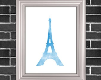Eiffel Tower Printable, 8x10, Instant Download Eiffel Tower Art Print French Wall Art Paris Wall Art Eiffel Tower Wall Art