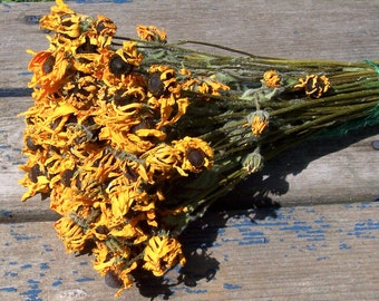 Dried Black-Eyed Susans, Dried Flowers.  Brown-Eyed Susans, bouquets, arrangements, preserved flowers.