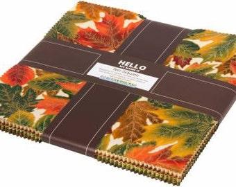 Shades of the Season 10 Inch Squares Layer Cake, Robert Kaufman, Precut Fabric, Quilt Fabric, Cotton Fabric, Autumn Fabric, Fall Fabric