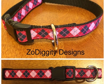 "5/8"" Argyle Dog Collar"