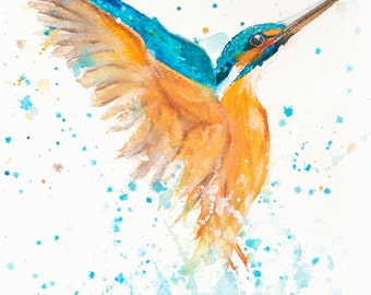 kINGFISHER- Limited Edition Signed Print