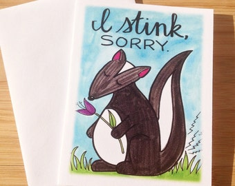 Sorry Card- I Stink, Sorry