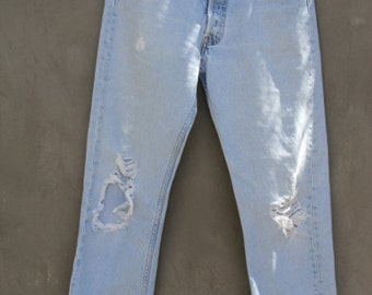 amazing vintage 70s/80s levisclassic 501 button fly sz 29 distressed
