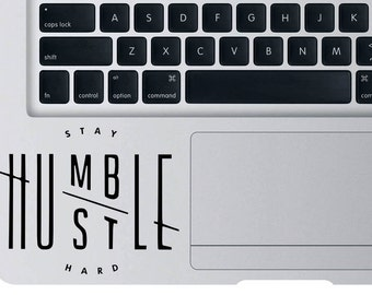 Stay Humble Hustle Hard Decal For Macbook Apple Laptop Hubmle Hustle Sticker For Car Window Wall Vinyl Gift Size CM