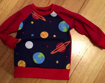 Handmade size 0 planets sweater