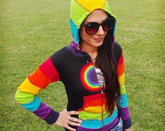 "Ethnic cotton Sweatshirt ""Rainbow"""