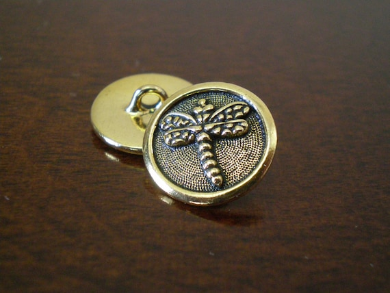 3 tierracast dragonfly metal buttons with shank jewelry for Buttons with shanks for jewelry