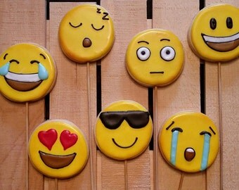 Emoji Cookies!  Your choice of 1 Dozen faces