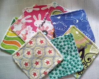 Soft Cotton Flannel & Bamboo Toweling Face Wipes /Wash Cloths