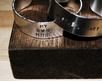 Thick Aluminum Stamped Cuff (The Drew)