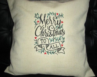 Burlap look 16 x 16 inch Pillow cover with pillow