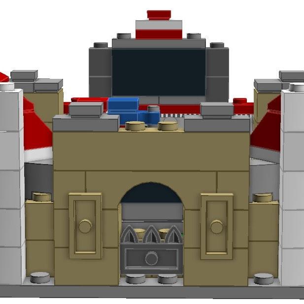 mini model stadium sets created using lego bricks by