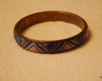 Brass and Enamel Bangle