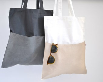 Jute Bag, Cotton Bag, White Bag, Pearl Color