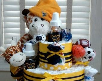 Sport Diaper Cake, Sport diaper cake- 3 tier - custom made to your team