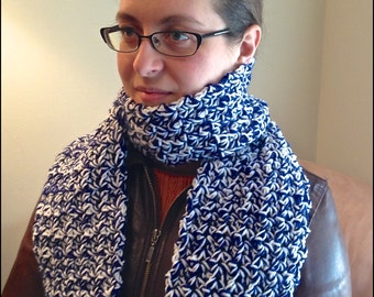 Adult Blue & White Scarf