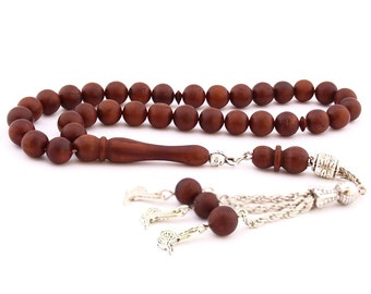 33 Count 8mm Kuka Wood Prayer Beads Tasbih Tesbih Rosary FREE SHIPPING