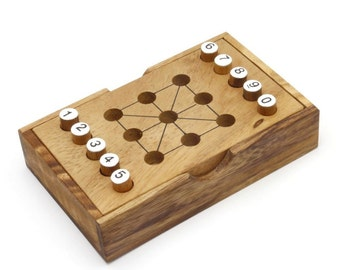 Wooden Toy : Magic Squares - The Organic Natural Puzzle Game Play for Baby and Kids