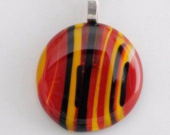 "Phoenix Fire Glass  1.5"" Pendant"
