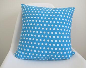 Cushion Cover (Blue + White Polka Dot)