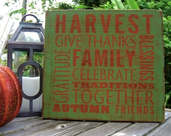 Fall Home Decor Sign,Family Sign,Harvest Decor,Fall Signs,Autumn Home Decor,Fall Wedding,Gratitude Home Decor,Fall Porch Decor