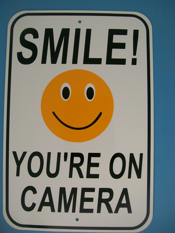 Smile You Re On Camera 12x18 Aluminum Security Sign Cctv