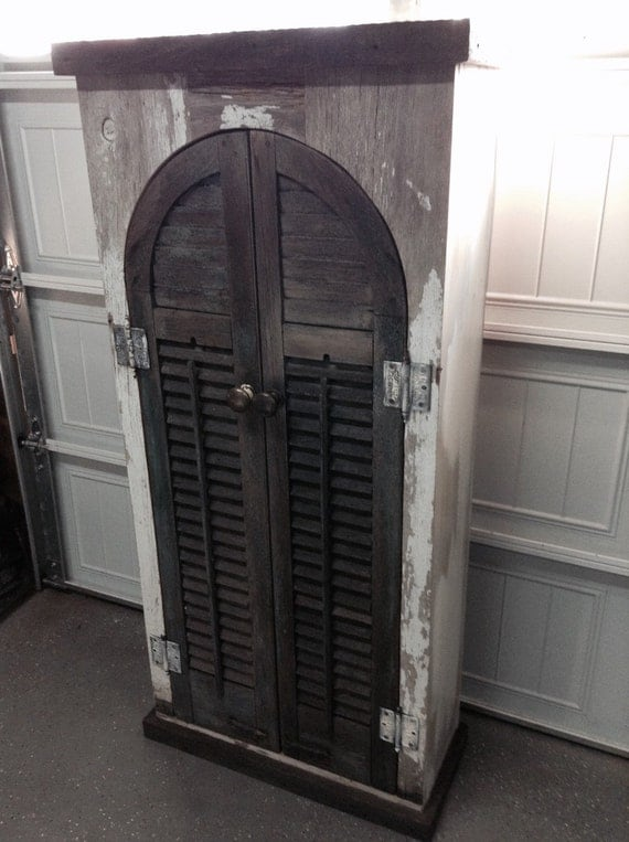 Vintage arch top storage display cabinet by PalumboHandmade