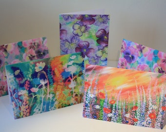 Set of 5 blank greeting cards