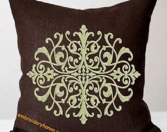 DAMASK B machine embroidery designs 3 size 5X7-6X10-7X12