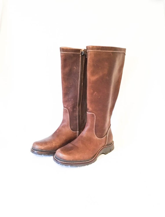 ll bean knee high leather boot size 6 5 m leather by