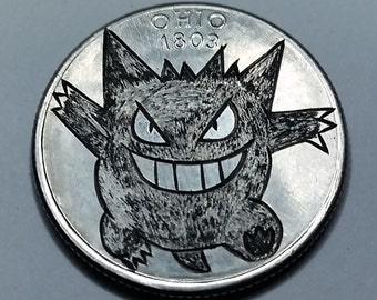 Gengar - Ohio State Quarter - Pokemon