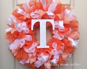Tennessee Vols Wreath, UT Vols Deco Mesh Wreath, University of Tennessee Mesh Wreath
