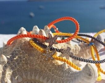 Colorful Starfish Tassel Bracelet